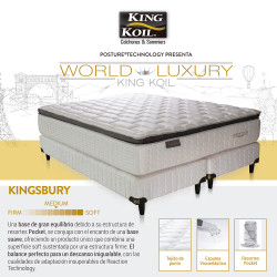 Colchón Y Sommier King Koil Kingsbury 150 x 190