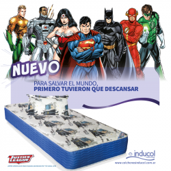 Nuevo Colchón y Sommier Batman Inducol 80 x 190