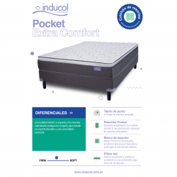 Colchón y Sommier Inducol Pocket Extra Comfort 200 x 200 Ficha